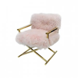 Naturally Timber 'Audrey' armchair - blush