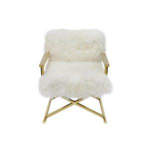 Naturally Timber 'Audrey' armchair - ivory