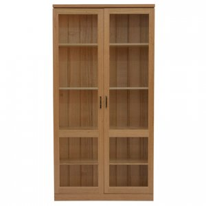 Contempo 2 door bookcase in Tasmanian Oak