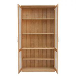 Contempo 2 door bookcase in Tasmanian Oak