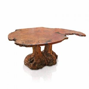 Burl dining table in River Red Gum