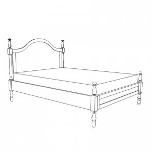 French Provincial bed in Oregon