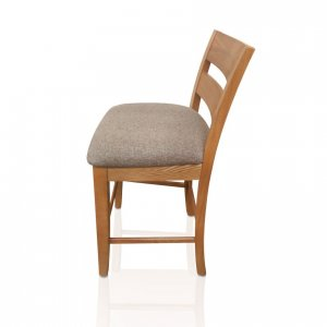 Naturally Timber 'Calvin' bar stool - Maple stain, fabric seat