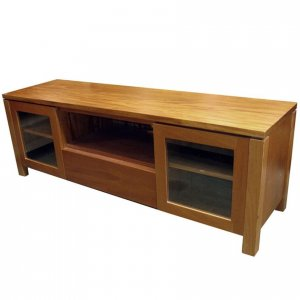Naturally Timber 'Contempo' TV unit - Fijian Mahogany
