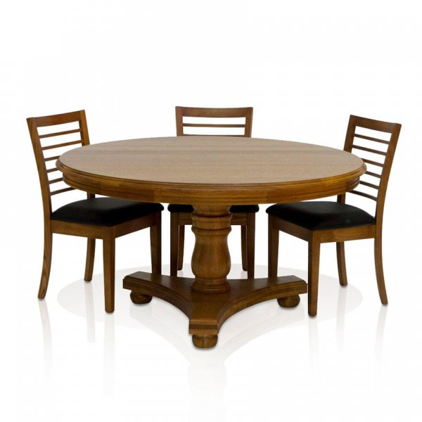 Naturally Timber 'Dalton' dining table - Tasmanian Oak and Krystal chairs