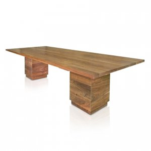 Naturally Timber 'Denmark' rectangular boardroom table - American Walnut