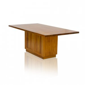 Naturally Timber 'Denmark' rectangular boardroom table with storage - Tasmanian Blackwood