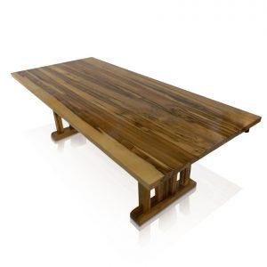 Naturally Timber 'Kobe' single-slab table - Blackheart Sassafras