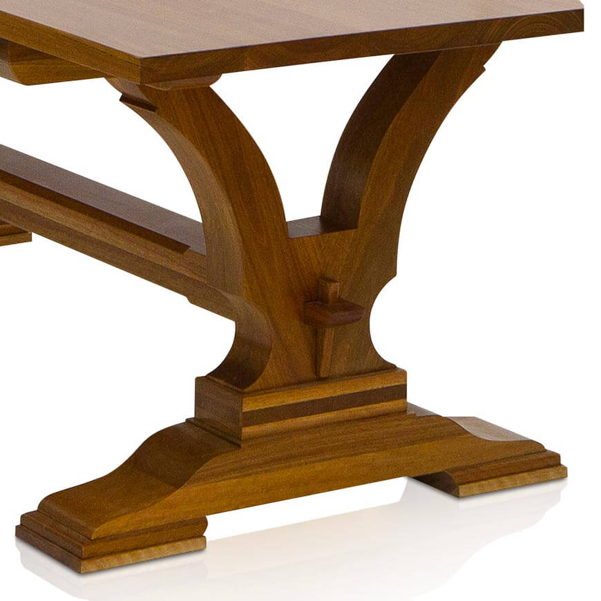 Naturally Timber 'Madrid' dining table - Spotted Gum