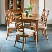 Naturally Timber 'Mango Creek' oval extension table
