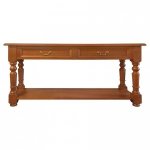 Naturally Timber 'Refectory' console table - Maple-stained Oregon