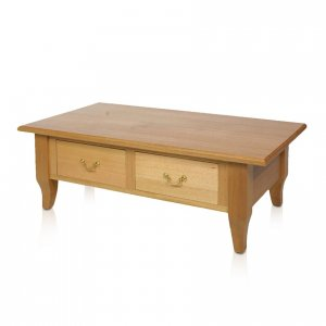 Naturally Timber 'Regent' coffee table with drawers - Maple-stained Tasmanian Oak