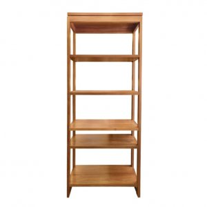 Naturally Timber 'Soho' bookcase - open back, 5 shelves, Tasmanian Blackwood