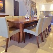 Naturally Timber 'Torino' dining table - American Walnut