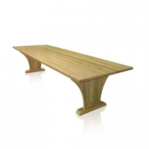 Naturally Timber 'Viera' dining table - Spotted-Gum
