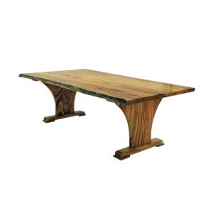 Naturally Timber 'Viera' single-slab dining table - Camphor Laurel