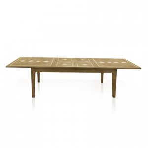 Naturally Timber 'Windrush' double-extension table - extended