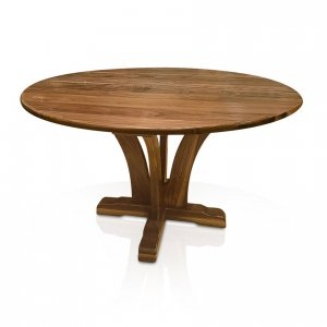 Naturally Timber 'Yarrah' round dining table - American Walnut
