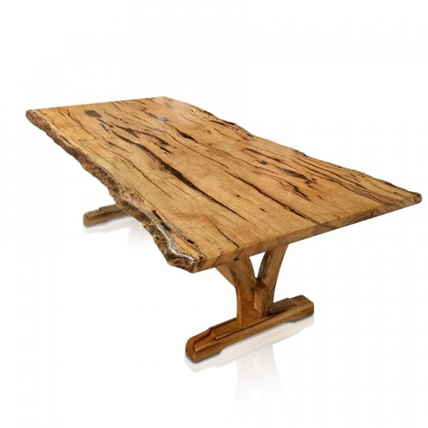 Naturally Timber 'Yarrah' single-slab dining table - Western Australian Marri