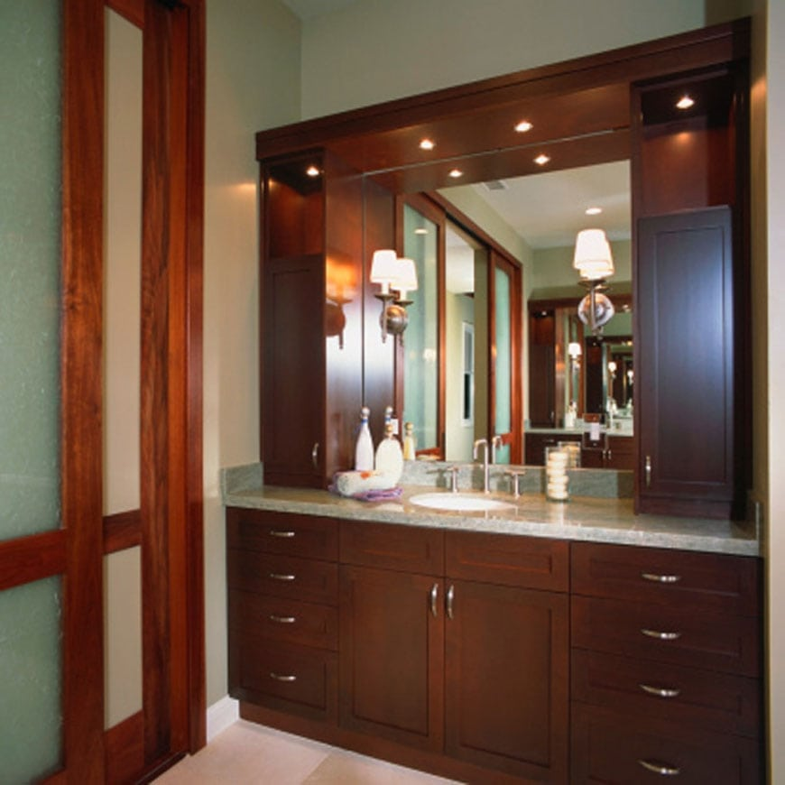 Bathroom Cabinets And Vanities Design : Custom design bathroom vanities naturally timber