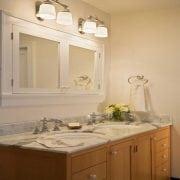 Naturally Timber custom design bathroom vanity - 2 doors, 8 drawers, Tasmanian Oak