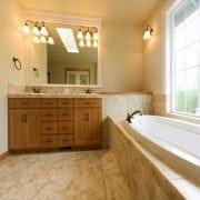 Naturally Timber custom design bathroom vanity - 4 doors,  10 drawers, Spotted Gum