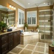 Naturally Timber custom design bathroom vanity - 4 doors, 6 drawers, Cambia Oak