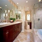 Naturally Timber custom-design bathroom vanity - 4 doors, 6 drawers, Western Australian Jarrah