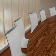 Naturally Timber custom-design boardroom table - boat-top, American Walnut