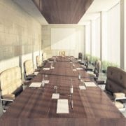 Naturally Timber custom-design boardroom table - rectangular, American Walnut