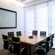 Naturally Timber custom-design boardroom table - square, Camphor Laurel