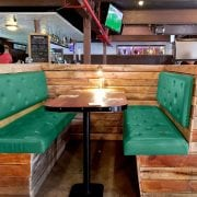 Naturally Timber custom-design cafe bench seating - reclaimed timber
