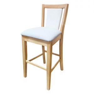 Chelsea bar stool in Warwick Fletcher Polar fabric