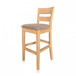 Calvin bar stool in Warwick Flynn Cobblestone fabric