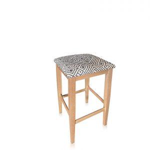 Kobe bar stool in Warwick Simbra Coal fabric