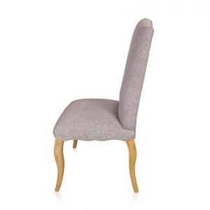 Loire dining chair in Warwick Bodhi Pebble fabric