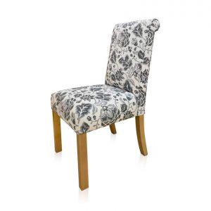 Capricorn dining chair in Warwick Montaky Basalt fabric