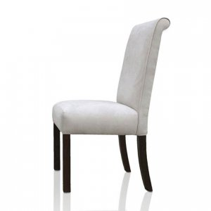 Capricorn dining chair in white upholstery