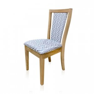 Chelsea dining chair in Warwick Parkville Iron fabric