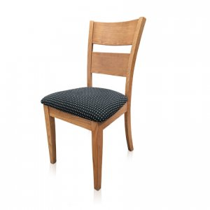 Calvin dining chair in polka dot fabric
