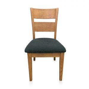 Calvin dining chair in polka dot fabric