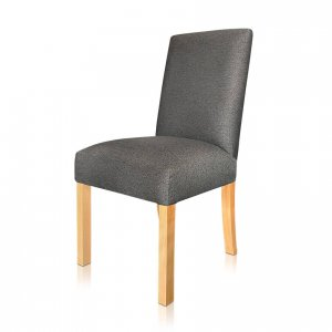 Caffe dining chair in Warwick Bodhi Granite front and Simbra Coal rear fabrics