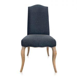 Loire dining chair in Warwick Bodhi Granite fabric