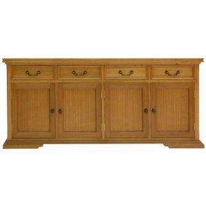 Madrid 4-door 4-drawer sideboard in Maple-stained Tasmanian Oak