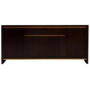 Torino 4-door 1-drawer sideboard in Cambia Oak & American Oak