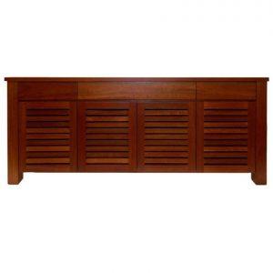 Plaza 4-door 3-drawer sideboard in River Red Gum