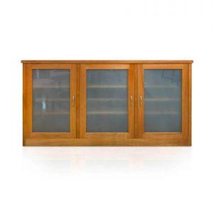 Studio 3-smoke glass door sideboard in Tasmanian Blackwood