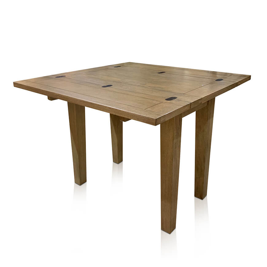 Windrush small flip-top extension table - open