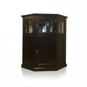 Naturally Timber 'Monterey' display cabinet - Chocolate-stained Tasmanian Oak
