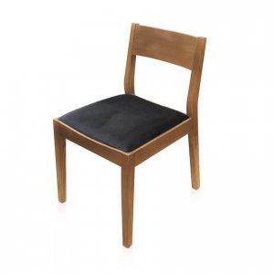 Bowen dining chair in Warwick Glamour Ebony fabric